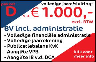 Pakket D: Werkmaatschappij BV + financiële administratie